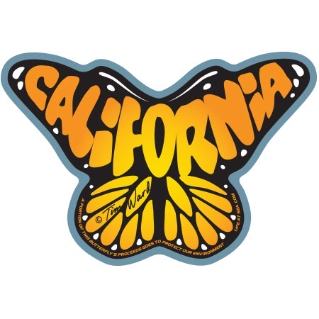 tim ward sticker decal monarch butterfly california