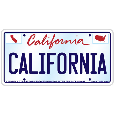 tim ward sticker decal license plate california