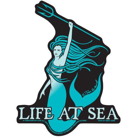 tim ward sticker decal santa cruz life at sea mermaid