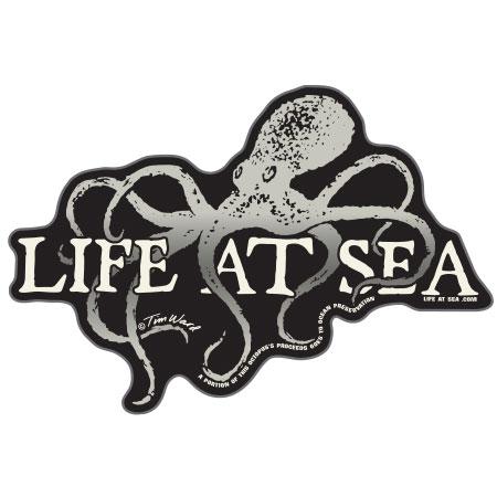 tim ward sticker decal santa cruz life at sea octopus