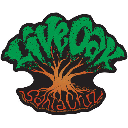 tim ward sticker decal live oak santa cruz