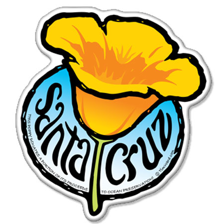santa cruz poppy flower magnet tim ward