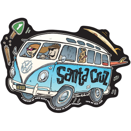 tim ward sticker decal vw bus santa cruz