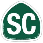 Santa Cruz Sticker Roadsign Tim Ward