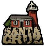 Santa Cruz Lighthouse Sticker Tim Ward