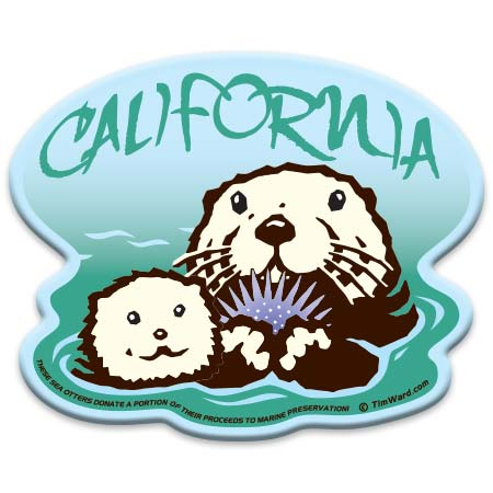 california otter magnet tim ward
