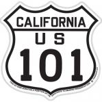 tim ward sticker decal us 101 california