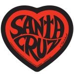 santa cruz sticker red heart tim ward