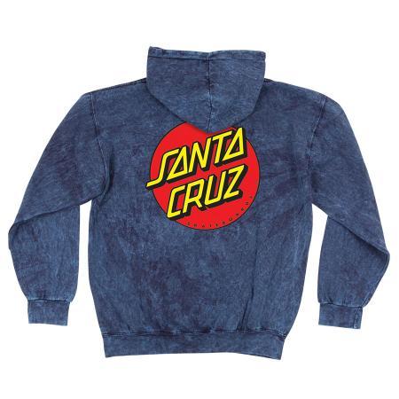 Mens Sweatshirt Pullover Santa Cruz Classic Dot (Mineral Navy)