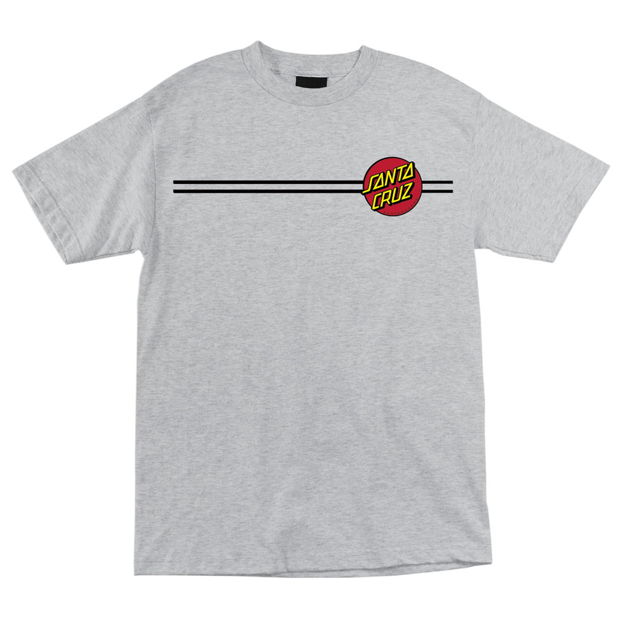 Santa Cruz Classic Dot Tshirt Heather Grey