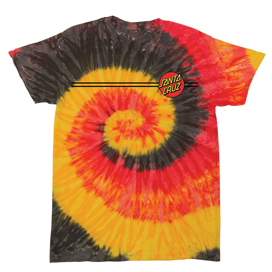 Santa Cruz Classic Dot Tshirt Kingston Tie Dye