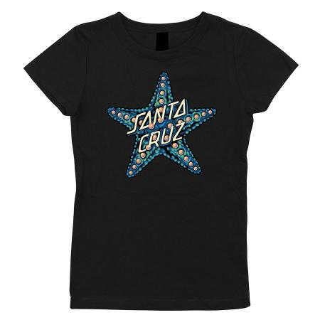young girls santa cruz red dot tshirt turqoise