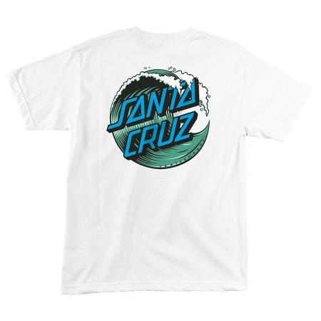 santa cruz youth t-shirt wave dot