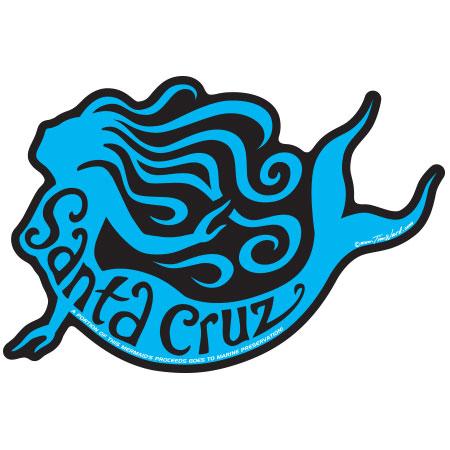 Santa Cruz Mermaid Sticker Tim Ward