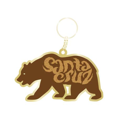 santa cruz bear keychain tim ward