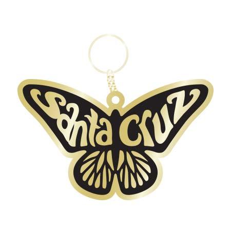 santa cruz butterfly monarch keychain tim ward