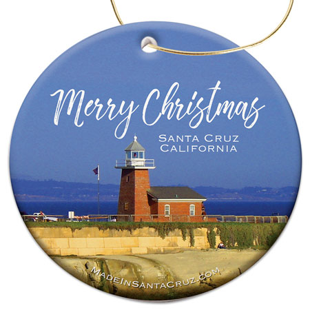 Santa Cruz Christmas Ornament