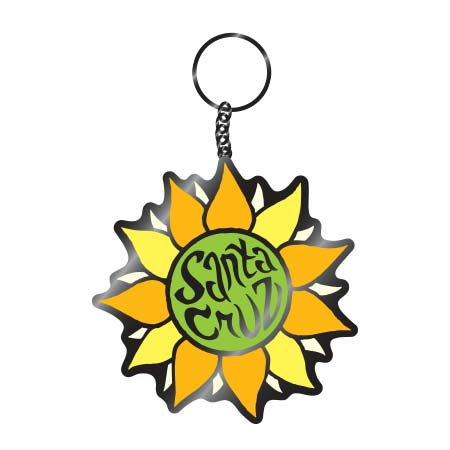 tim ward keychain santa cruz sunflower