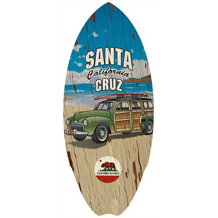 Santa Cruz Woody Mini Surfboard