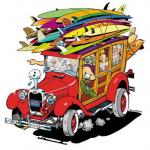 Decal Santa Cruz Surf Woodie Woody Sticker Jim Phillips